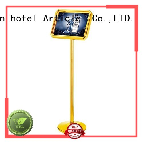 hotel sign ss201folding stainless reception BoXin Brand hotel sign stand