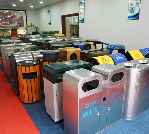 commercial trash bin plaza stainless BoXin Brand