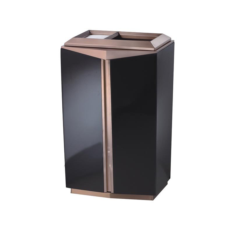BOXIN Indoor high-grade stainless steel floor trash can for hotel