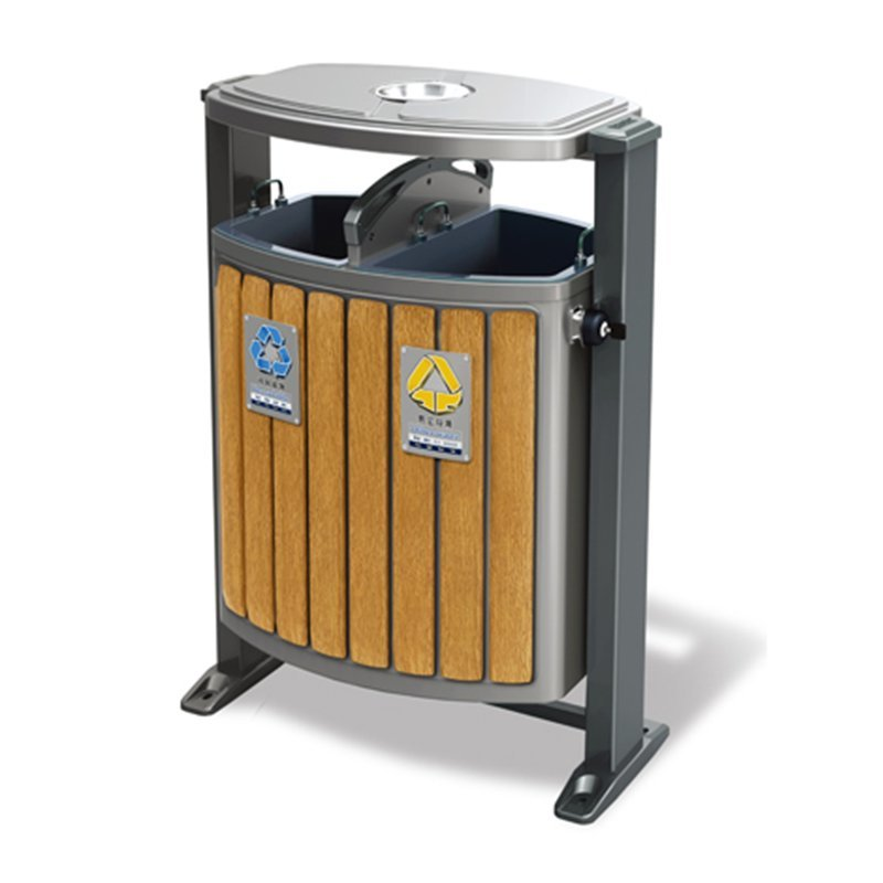 Recommend Outdoor metal trash can trash can outdoor sorting bins municipal sanitation die stamping