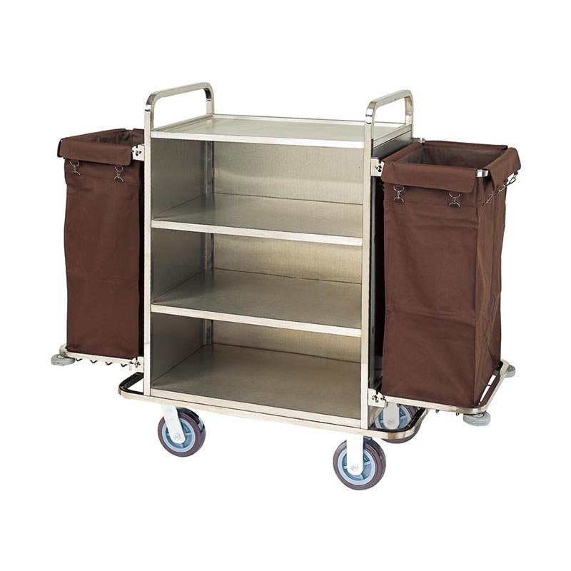 Hotel equipment room service trolley hotel housekeeping cart janitorial cleaning trolley