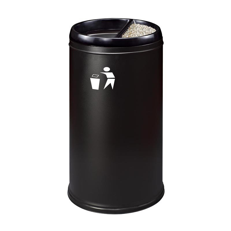 Customized Wanda Plaza FRP stainless steel trash can with silk screen LOGO