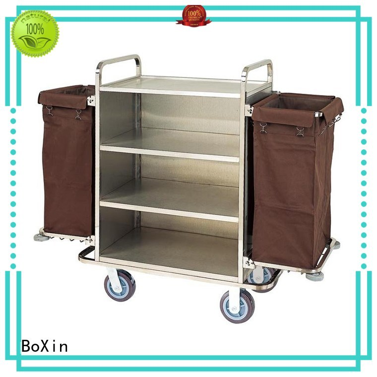 hotel janitorial service hotel service trolley cart BoXin Brand