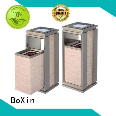 Quality BoXin Brand indoor garbage bins function champagne