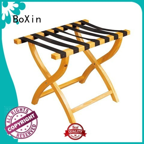 racks hotel wooden luggage rack luggage room BoXin Brand