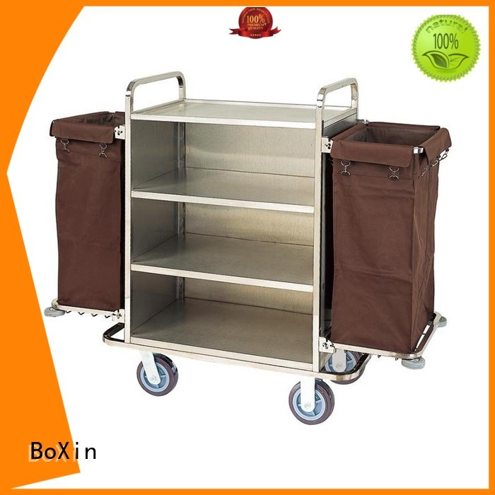 room service carts for hotels trolley room janitorial BoXin Brand