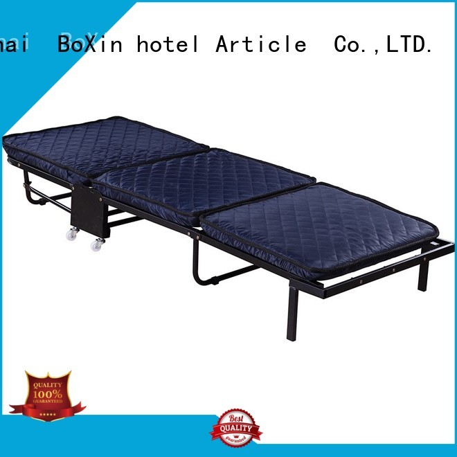 BoXin Brand bed single folding extra bed in hotel manufacture