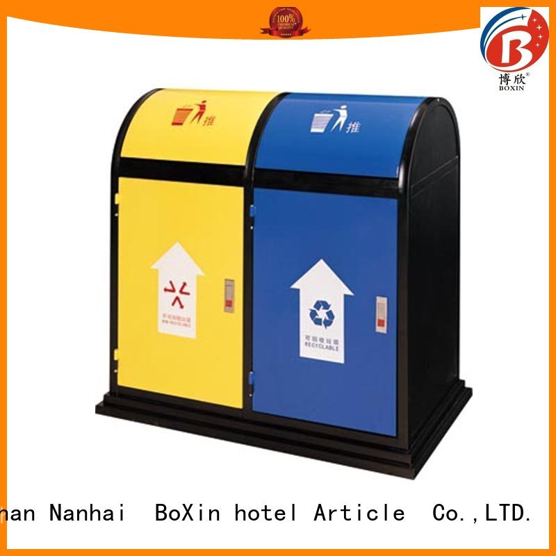 welding municipal baking BoXin Brand commercial trash bin factory
