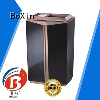 stainless garbage single OEM hotel trash can BoXin