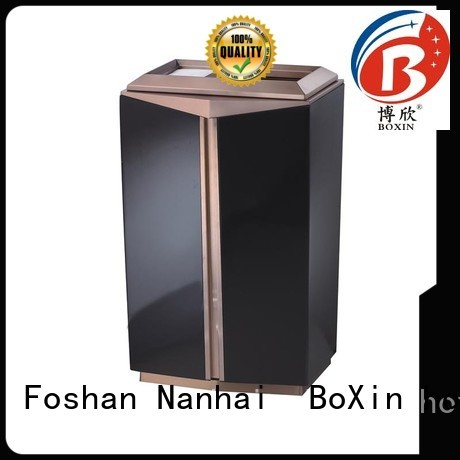 bxa001b Custom floor mobile hotel trash can BoXin metal