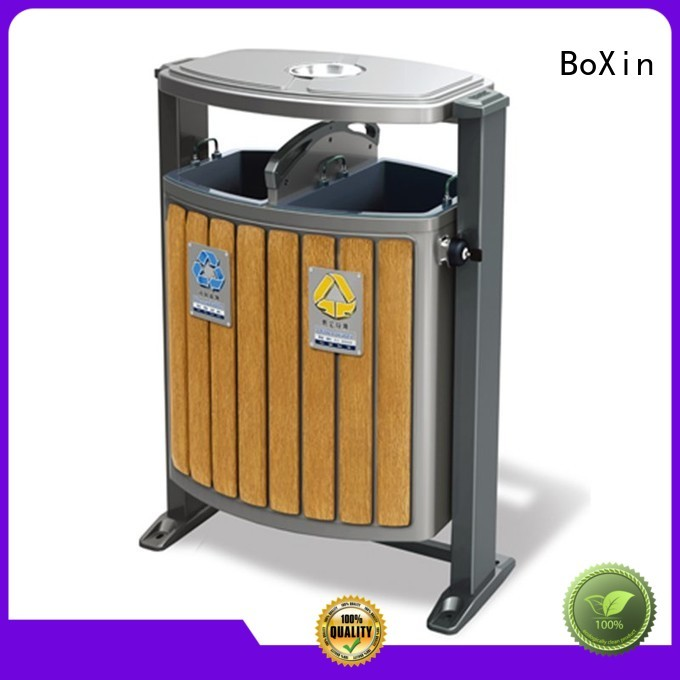 Wholesale arched outdoor trash bin BoXin Brand