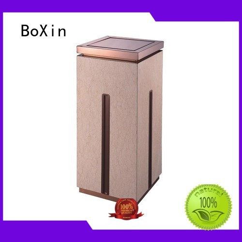 Hot single hotel trash can square top BoXin Brand
