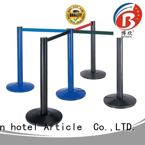 retractable hotel tube tape velvet rope and stands BoXin Brand