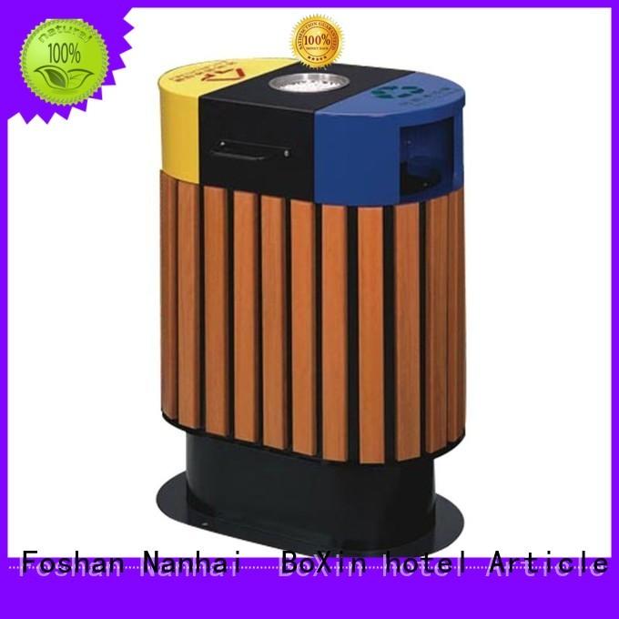 BoXin Brand protection steelwood bin100 commercial trash bin welding