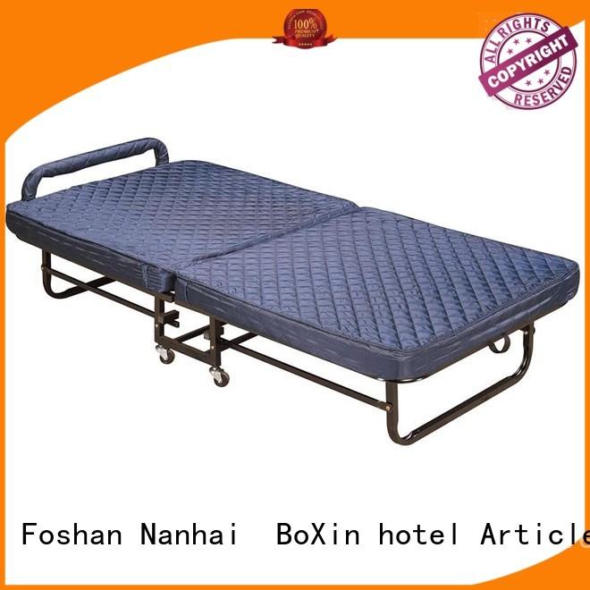 hotel guest metal single folding bed mattress BoXin Brand