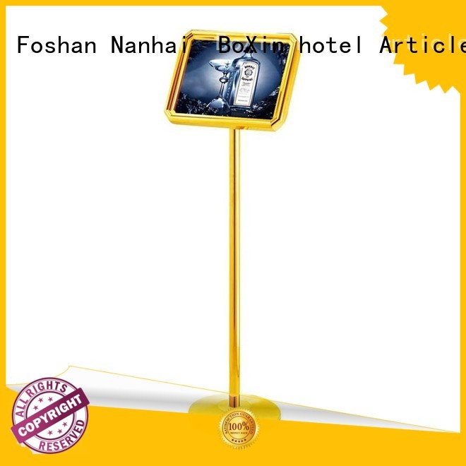 BoXin Brand sing lobby street board hotel sign stand