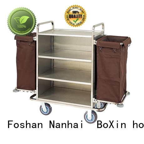 room service carts for hotels housekeeping hotel BoXin Brand hotel service trolley
