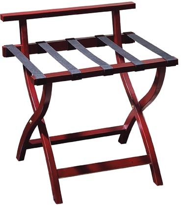 Hotel Living Room Solid Wood Folding Modern Luggage Rack with Shelf BX-F703