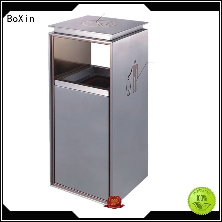 BoXin Brand imported indoor garbage bins champagne supplier