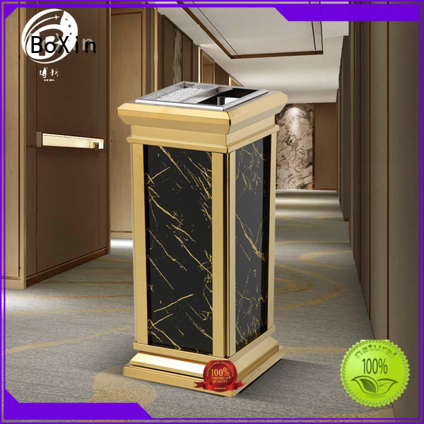 mobile single hotel trash can marble BoXin Brand